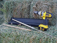 Hay probe and drill