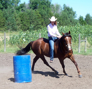 Bareback Barrel Racing