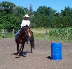 Trotting Around Barrel