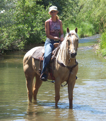 Barrel horse trail ride!